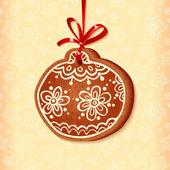 Ornate traditional christmas sweet ball — Stock Vector