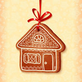 Ornate vector traditional christmas sweet house — Stock Vector