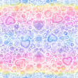 Valentine's day watercolor hearts background - Stock Photo