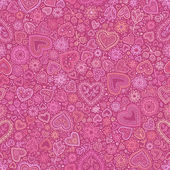 Valentine's day artistic seamless background — Stock Vector