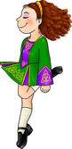 Irish dancing girl in traditional hard shoes — Stock Photo