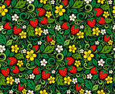 Strawberry pattern in traditional russian style — Stock Vector