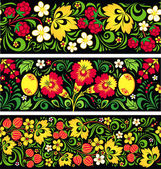Patterns in traditional russian style Hohloma — Stockvector