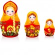 Russian tradition matryoshka dolls - Stock Vector