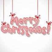 Ruční písmo ozdobné veselé vánoce znamení — Stock vektor