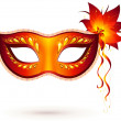 Vector red venitian carnival mask — Stock Vector