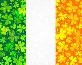 Fond de drapeau irlandais de vecteur — Vecteur