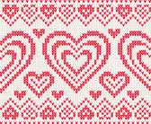 San valentino pattern di vettore a maglia senza giunte — Vettoriale Stock