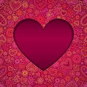 κόψτε το χαρτί κάρτα ημέρα του αγίου βαλεντίνου καρδιά — Διανυσματικό Αρχείο