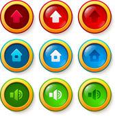 Set of vector glass buttons — Vector de stock