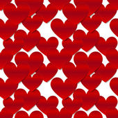 Red glossy vector paper hearts at white background — Stock Vector