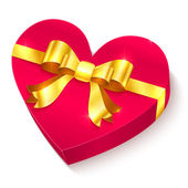 Valentines day 3D heart gift box — Vecteur