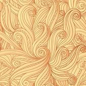 抽象矢量无缝手绘头发花纹 — 图库矢量图片