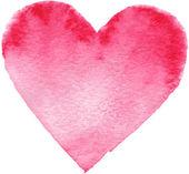 Corazón rojo pintado dibujados a mano — Foto de Stock