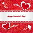 Valentines day greeting card with hearts — Stock Vector