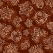 Christmas dark chocolate seamless pattern — Stok fotoğraf