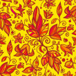 Abstract ornate shining flower seamless pattern — Stock Photo