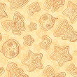 Christmas white chocolate seamless pattern — Stock Photo