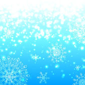 Blue shining snowflakes christmas background — Stock Photo