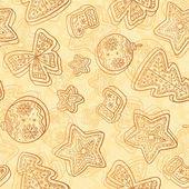 Patrón sin costuras chocolate navidad blanca — Foto de Stock
