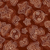 Christmas dark chocolate seamless pattern — 图库照片
