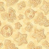 Christmas white chocolate seamless pattern — Стоковое фото