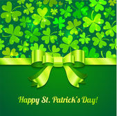 Saint Patrick's day greeting card — Stock Vector