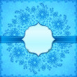 Stock Photo: Blue flowers ornate vector background