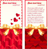 Valentines day greeting cards templates — Stock Vector