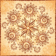 Ornate vector doodle flowers background - Stock Photo
