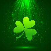 Green clover in the magic light background — Vetorial Stock