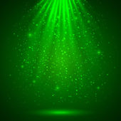Green magic light abstract background — Stock Vector