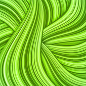 Green hair waves abstract background — Stockvector