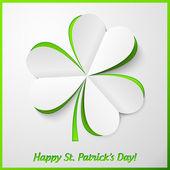 Białe i zielone księgi wyłącznik koniczyna — Wektor stockowy