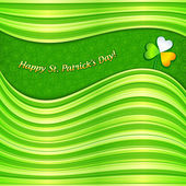 Green Patrick's Day abstract background card — Stock Vector