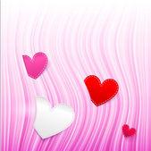 Vector pink wavy Valentine's Day background — ストックベクタ
