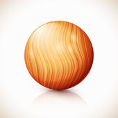 Yellow vector isolated wooden ball — Stock Vector