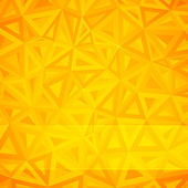Yellow vector abstract triangles background — Stock Photo