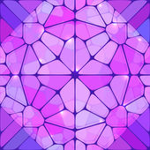 Violet stained glass abstract vector background — Stock Vector