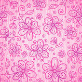 Pink lacy vintage flowers vector seamless pattern — Vecteur