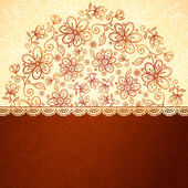 Lacy vintage flowers vector background — Stock Vector
