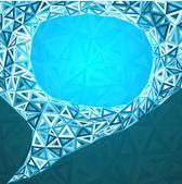 Abstract triangles idea bubble — Stock Photo