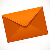 Brown empty vector mail envelope — Stock Vector