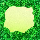 抽象三角形矢量几何背景 — 图库照片