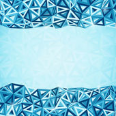 Abstract triangles vector geometry background — Stock Photo
