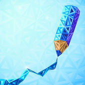 Abstract triangles vector pencil bacground — Stock Vector