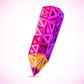 Triangoli astratti vector matita colore — Vettoriale Stock