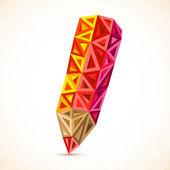 Abstract triangles vector color pencil — Stock Vector