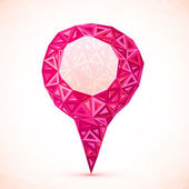 Abstract triangle pink vector map location pointer — Stock Vector