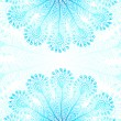 Blue vector peacock feathers background — Imagen vectorial